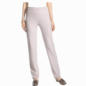 Chico's Zenergy Cotton Cashmere Ribbed Pant Beige